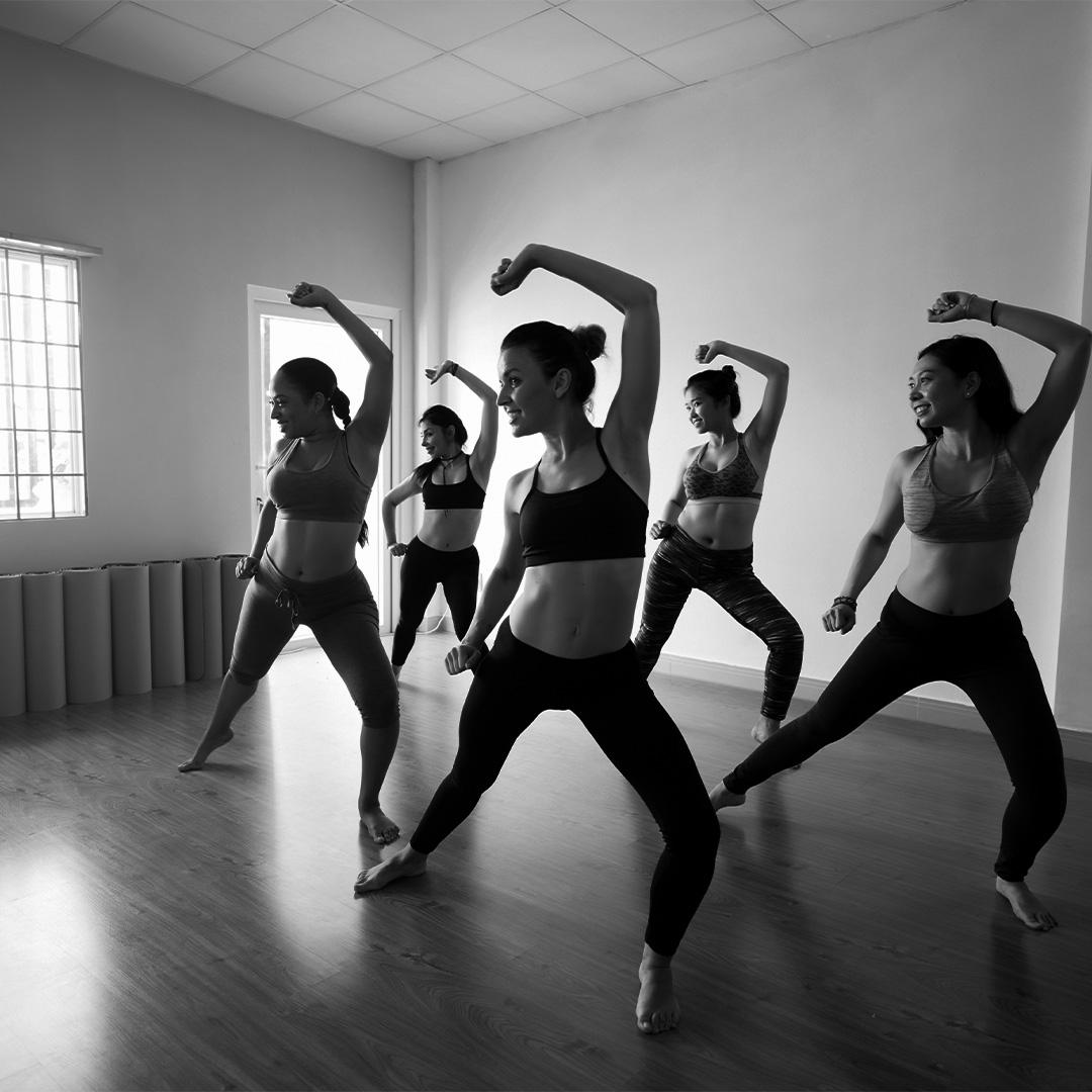 Dance Rehearsal In Studio