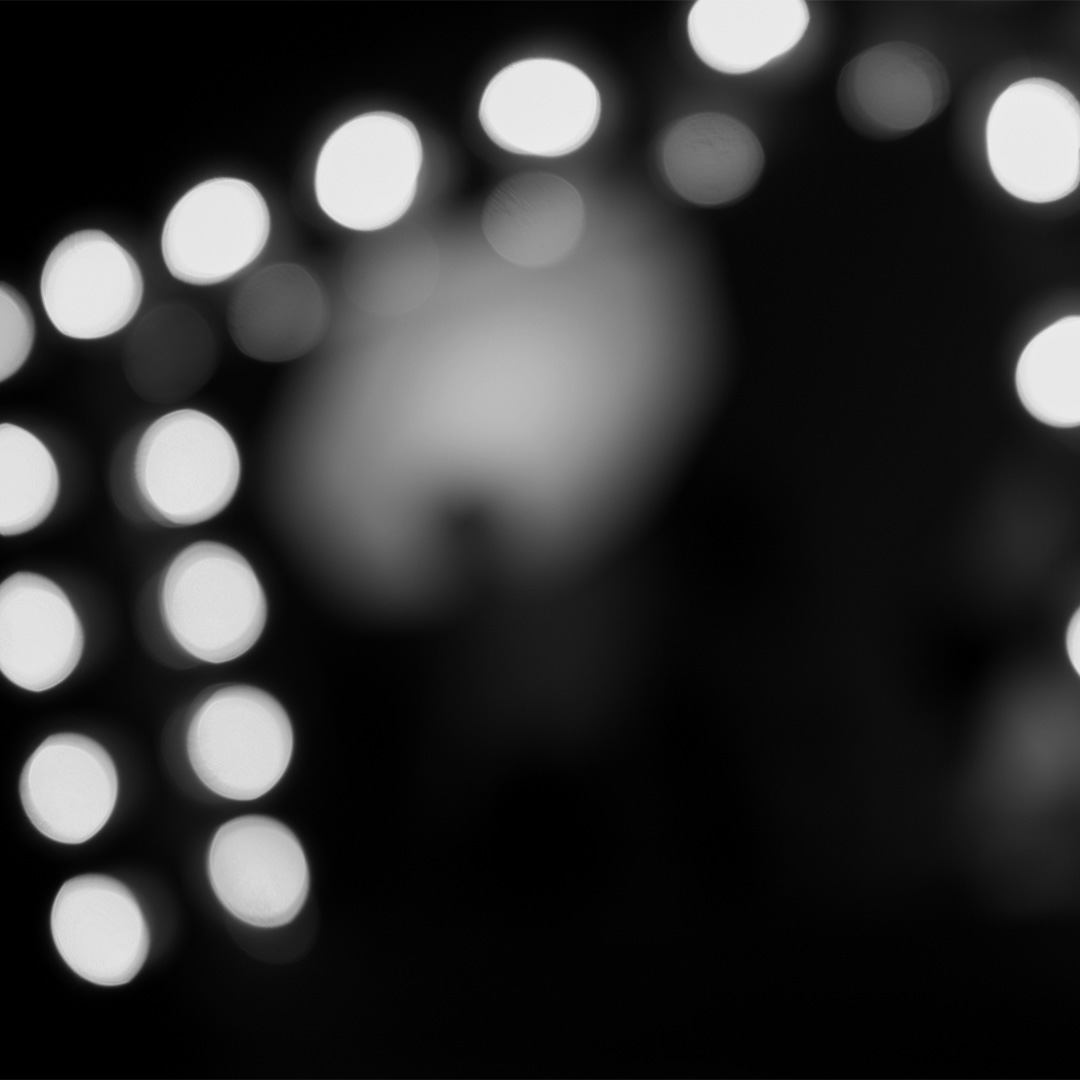 Broadway light bulbs close-up